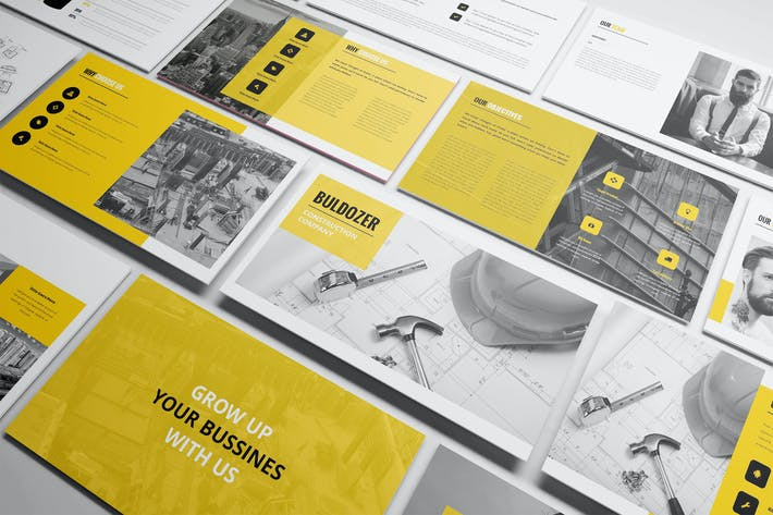 Thumbnail for Buldozer - Construction Keynote Template