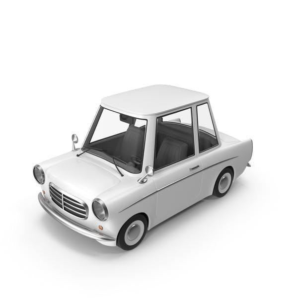 Мультфильм автомобиль белый