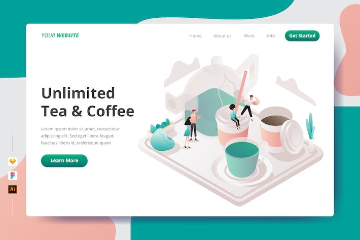 Thumbnail for Unlimited Tea & Coffee - Landing Page
