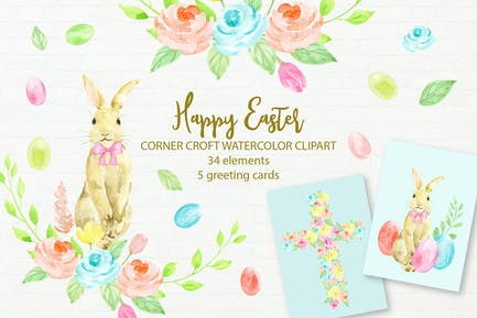 Счастливые Пасхальные открытки и иллюстрации