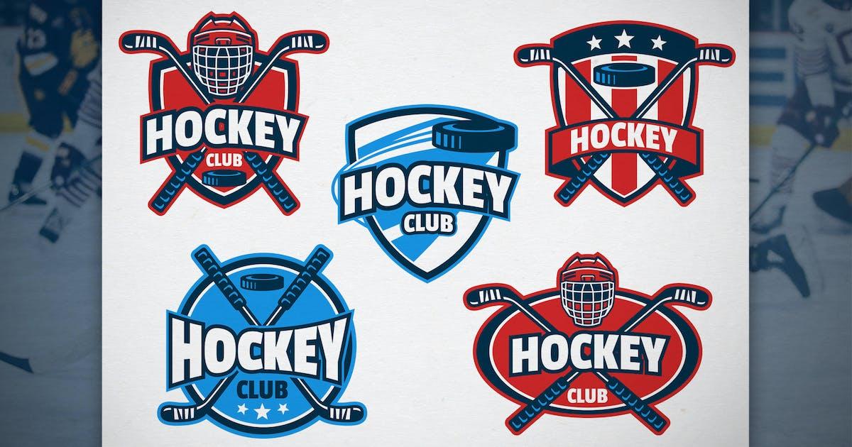 Download Set of Hockey Badge Design by bazzier