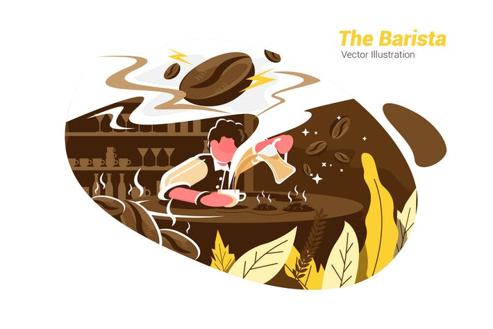 Thumbnail for The Barista - Vector Illustration