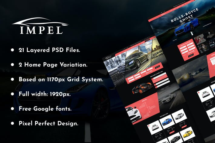 Thumbnail for IMPEL Car Dealer PSD Template