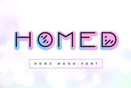 Homed| color home mood font