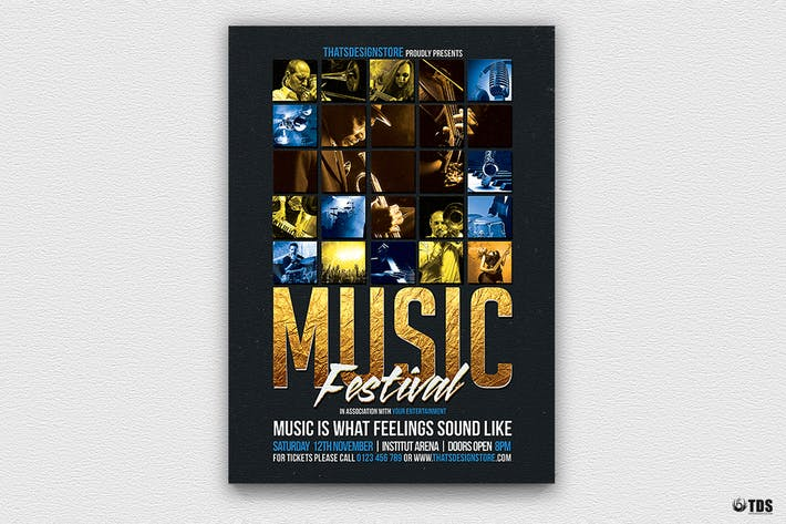 Thumbnail for Music Festival Flyer Template V1