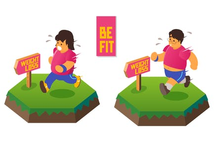 Asian Running for Perder peso. Estar en forma y salud