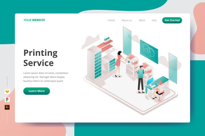 Thumbnail for Printing Service - Landing Page