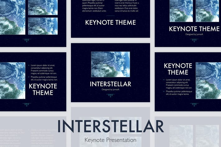 Thumbnail for Interstellar Keynote Template