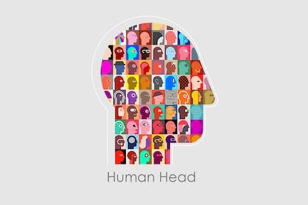 Illustration du vecteur de tête humaine