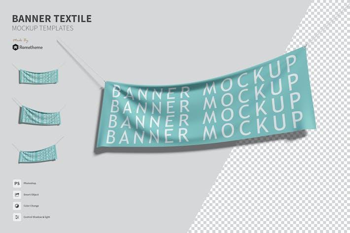 Thumbnail for Textile Banner - Mockups FH