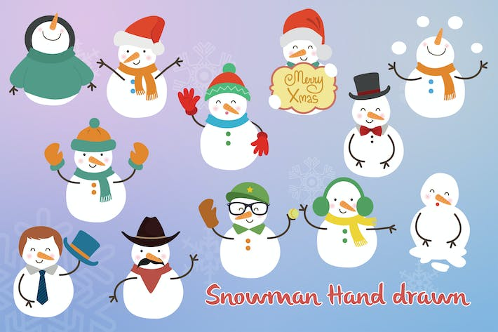 Thumbnail for Snowman Hand Drawn