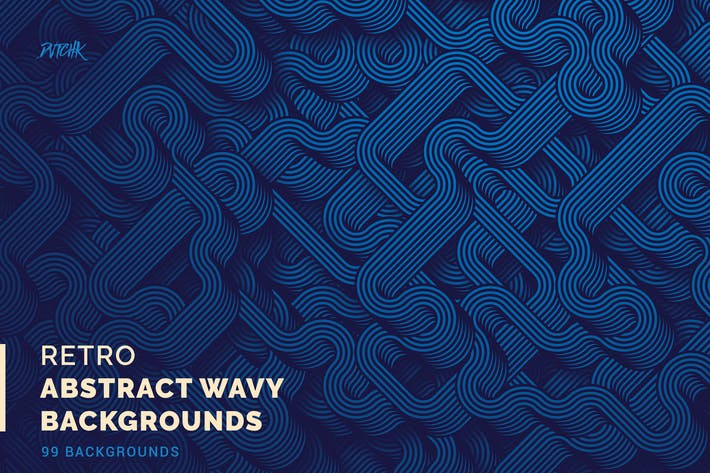 Thumbnail for Retro | Abstract Wavy Backgrounds