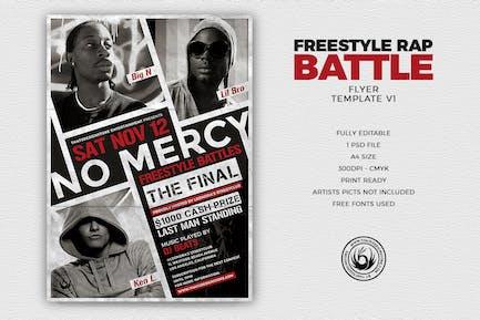 Freestyle Rap Battle Flyer Template V1