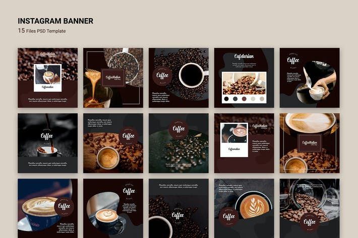 Thumbnail for Instagram Banner Coffee Shop