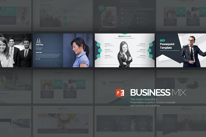 Thumbnail for Business Mix Powerpoint Presentation