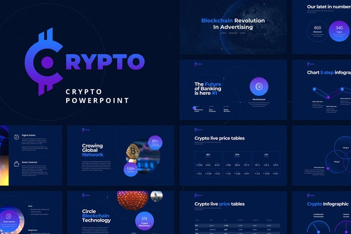 Thumbnail for CRYPTO Powerpoint Template