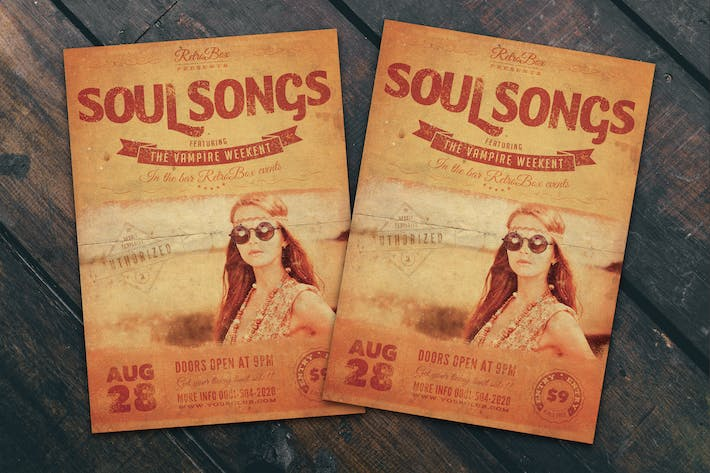 Thumbnail for Soul Songs Flyer Poster