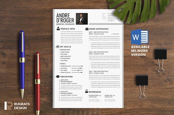 Thumbnail for Minimalist CV Resume R1