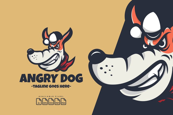 Thumbnail for Angry Dog Logo Template