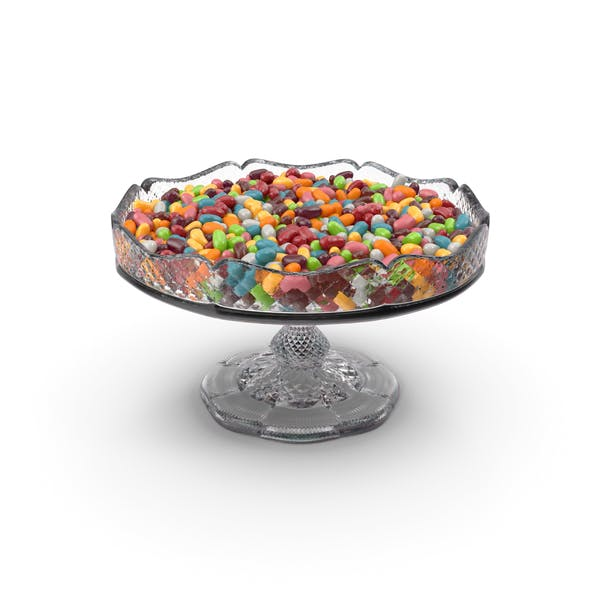 Fancy Crystal Bowl With Jelly Beans