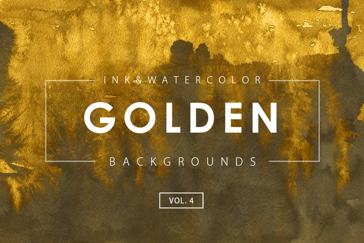 Thumbnail for Golden Ink Backgrounds 4