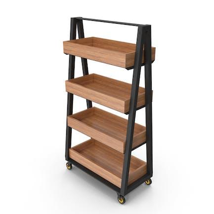 Storage Rack with Wheels