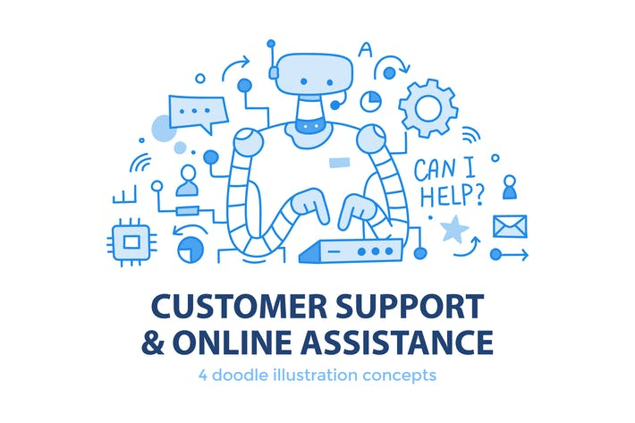 Thumbnail for 4 Customer Support & Online Assistance Concepts