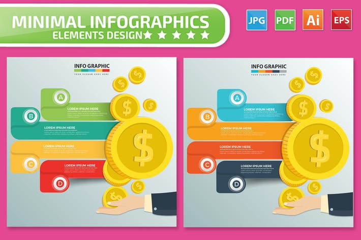 Thumbnail for Financial Infographics Design