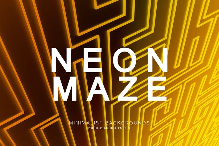 Thumbnail for Neon Maze Backgrounds