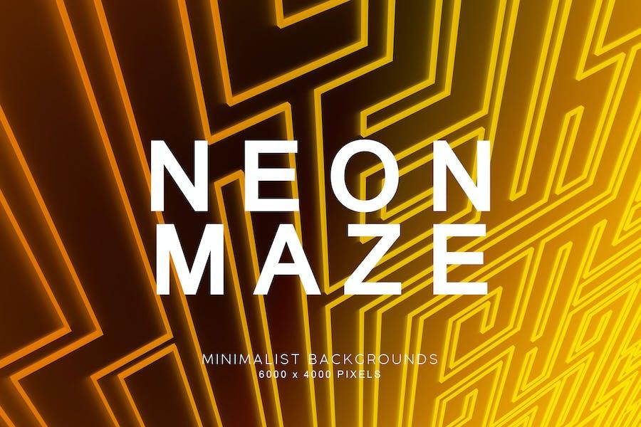 Neon Labyrinth-Hintergründe