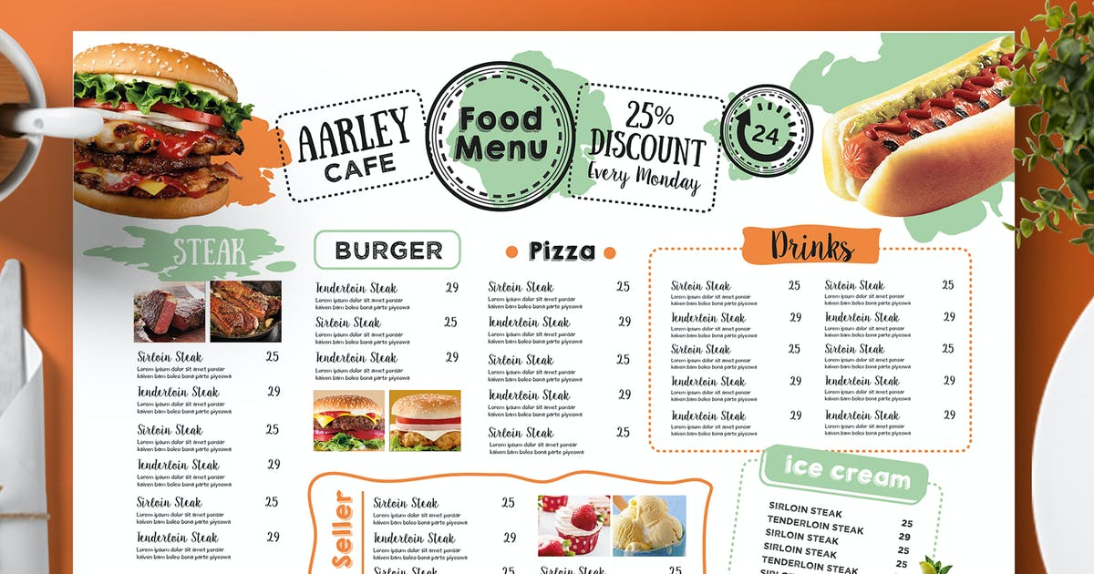 Download Cafe Menu Template by Unknow