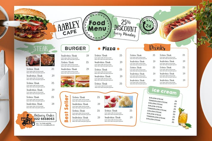 cafe menu template by aarleykaiven on envato elements