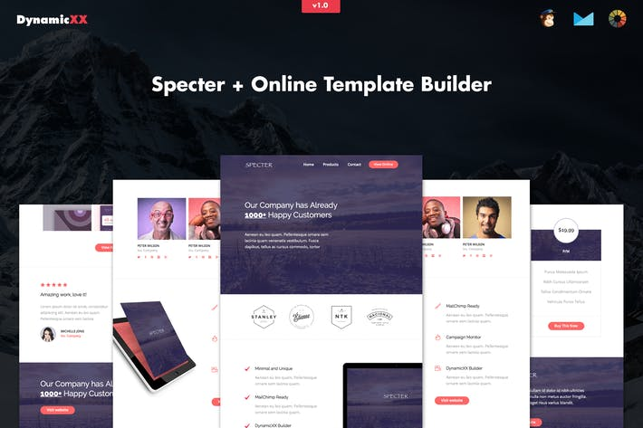 Thumbnail for Specter - Responsive Agency Email + Online Builder