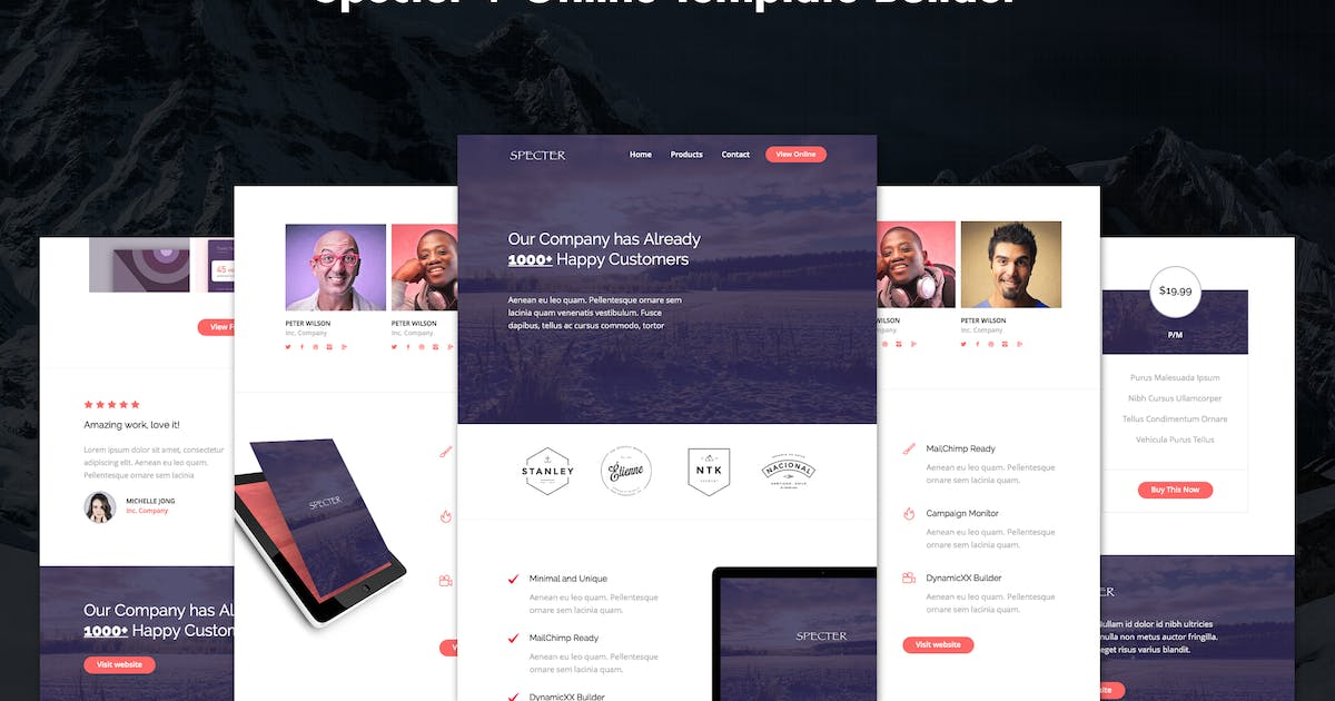 Download Specter - Responsive Agency Email + Online Builder by DynamicXX