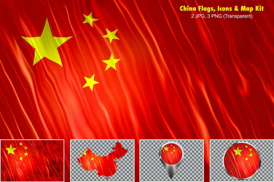 Download China Flags, Icons & Map Kit by StrokeVorkz