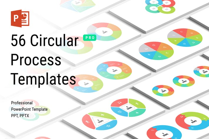 Thumbnail for Circular Process PowerPoint Templates