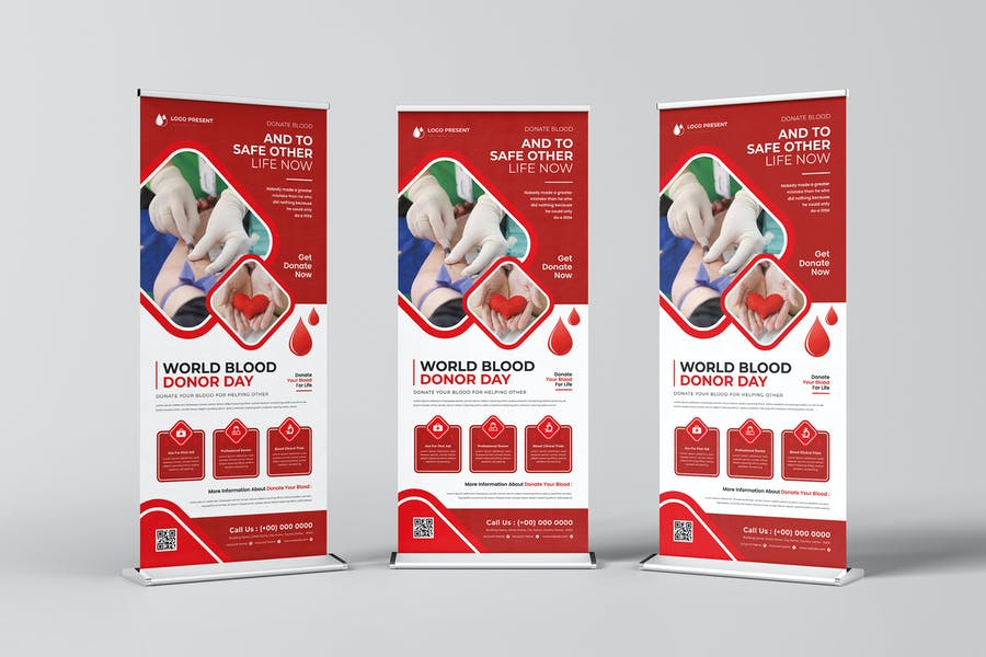 World Blood Donor Roll-up Banner
