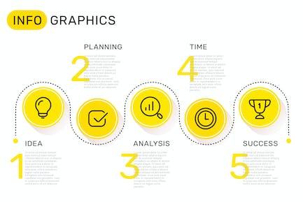Ensemble de Modèles infographiques + Icones d'entreprise
