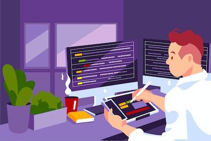 UX Designer creative sketch for mobile application
