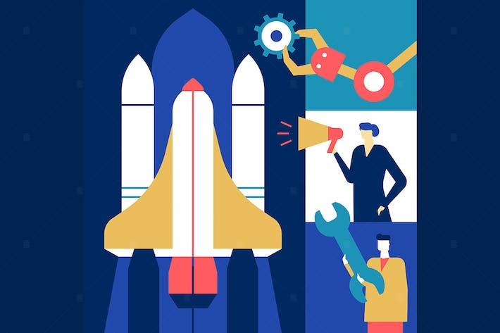 Thumbnail for Startup - flat design style illustration