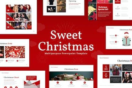 Sweet Christmas Powerpoint Presentation Template