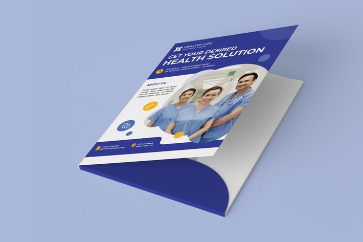 Thumbnail for Medical healthy folder PSD Template
