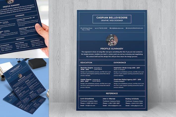 Thumbnail for Resume CV Template-31
