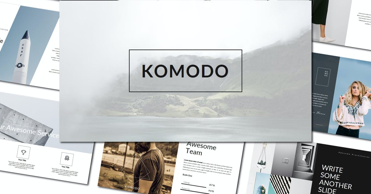 Download Komodo   Powerpoint Template by amarlettering