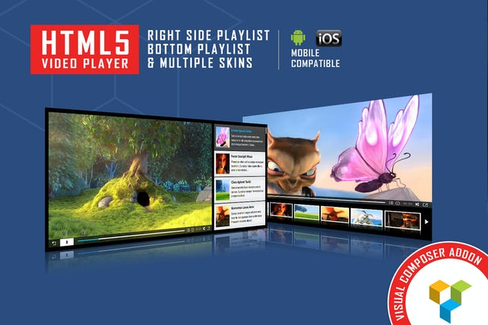 Thumbnail for Visual Composer Addon - HTML5 Video Player