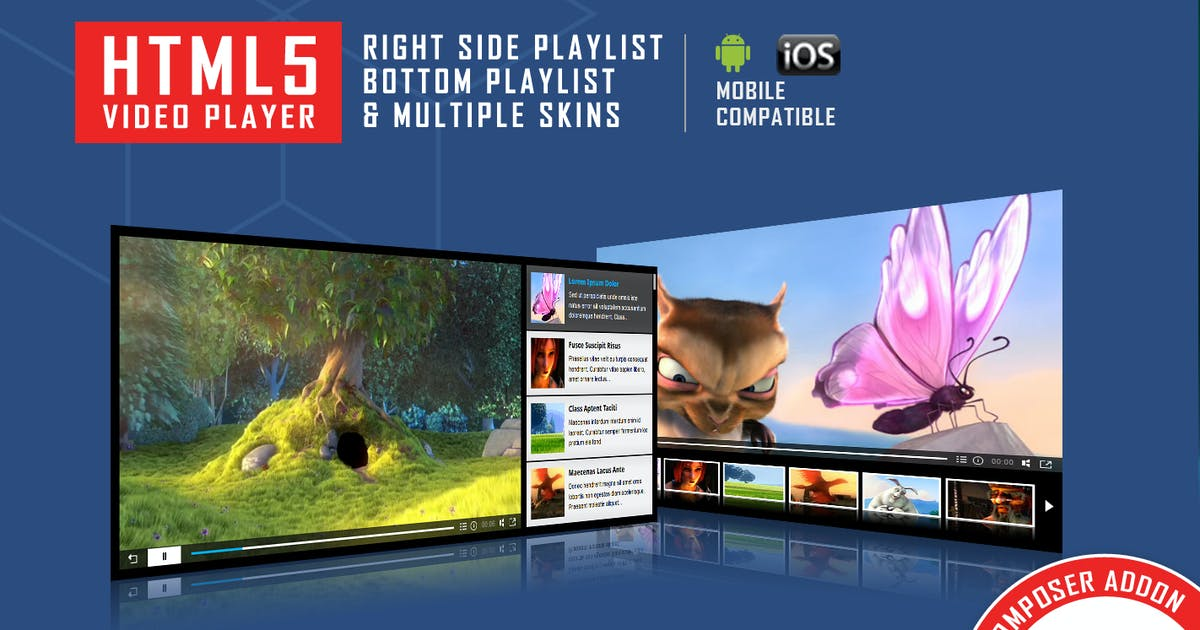 Visual Composer Addon - HTML5 Video Player by LambertGroup