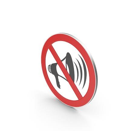 No Loudspeaker Sign