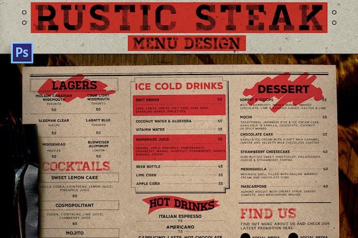 Thumbnail for Rustic Steak Menu