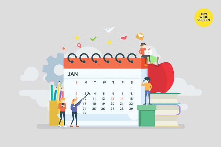 Thumbnail for Monthly Calendar Schedule Vector Concept