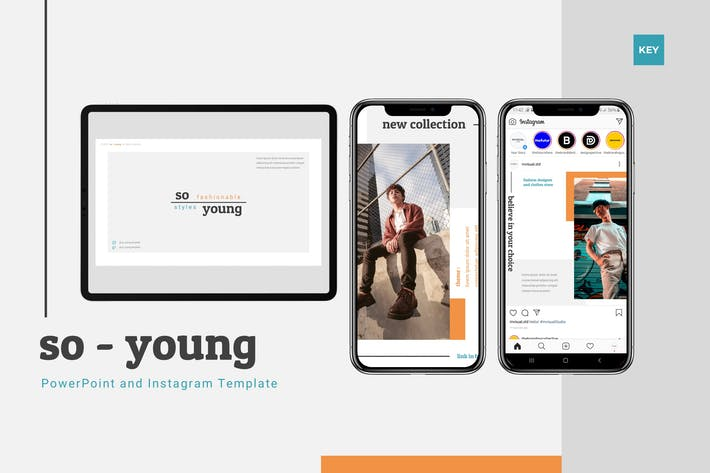 Thumbnail for So Young - Шаблон Keynote & Instagram